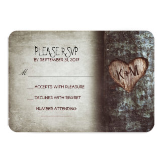 "Old tree rustic wedding RSVP cards 3.5"" X 5"" Invitation Card"