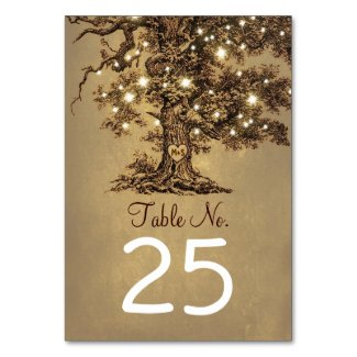Old Tree Wedding Table Number Cards Place Cards
