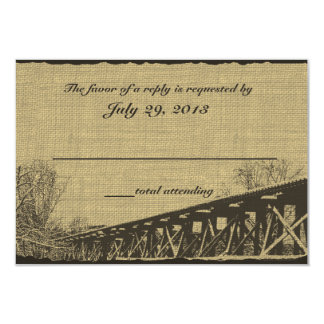 Old Trestle Bridge Wedding Response Card