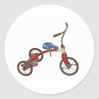 Old Tricycle Round Sticker