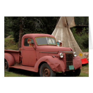 Old Truck and Teepee Greeting Card