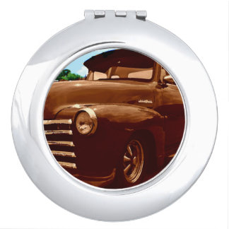 Old truck as a painting mirror vanity mirror
