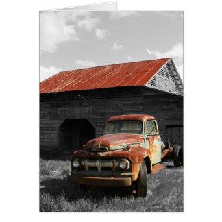 Old Truck b/w Card