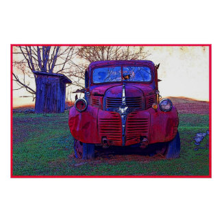 Old Truck Photo Poster