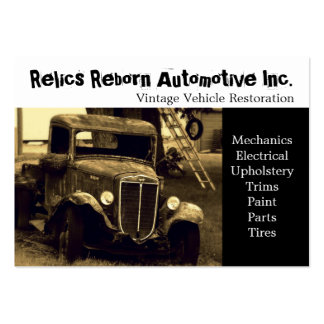 Old Truck  Repair Shop Large Business Card