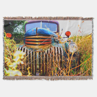 old truck throw blanket