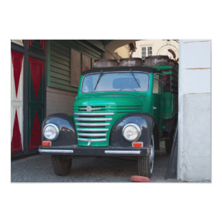 Old truck with beer - invitation