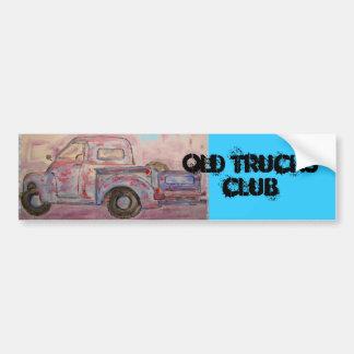 Old Trucks Club Bumper Sticker
