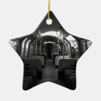 Old Tube Train Ceramic Ornament