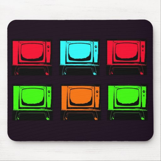 Old Tv Collage Mouse Pads