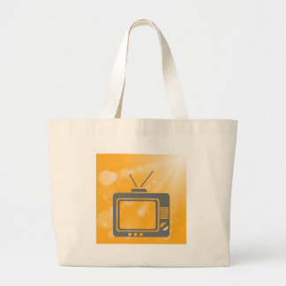 old tv large tote bag