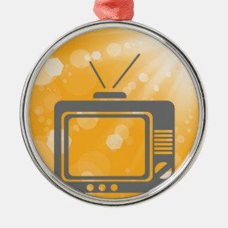old tv metal ornament