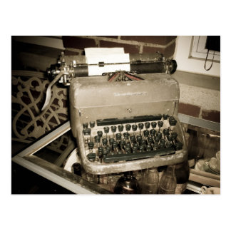 Old Typewriter at Waverly Hills Postcard