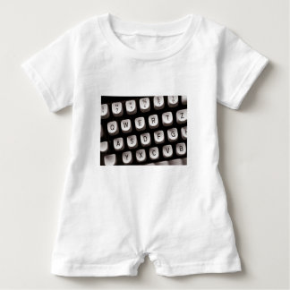 Old_Typewriter Baby Romper