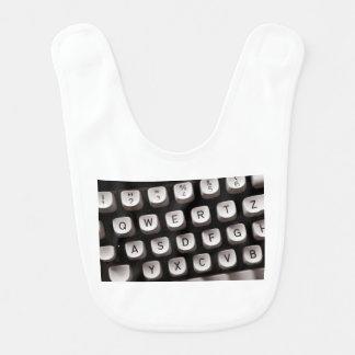 Old Typewriter Bib