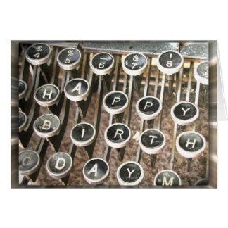 Old Typewriter Birthday Greeting Card