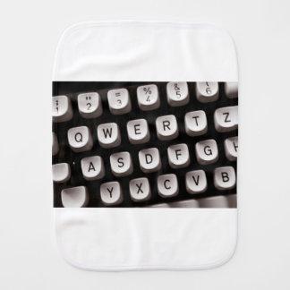 Old Typewriter Burp Cloth