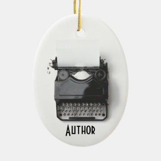 Old Typewriter for Author, Journalist, Blogger Ceramic Ornament
