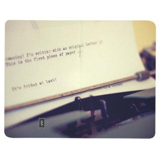 Old typewriter journals
