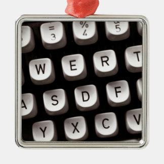 Old Typewriter Metal Ornament