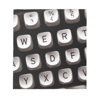 Old Typewriter Notepad