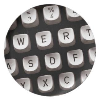 Old Typewriter Plate