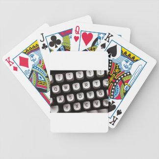 Old Typewriter Poker Deck