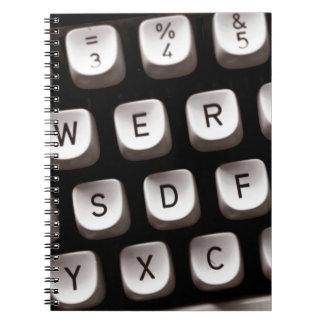 Old Typewriter Spiral Note Books