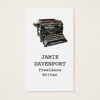 Old Typewriter Writer Journalist Author Business Business Card