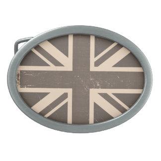 Old United Kingdom Flag Oval Belt Buckles