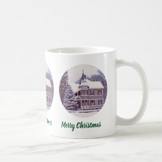 Old Victorian House - Home for the Holidays Coffee Mug