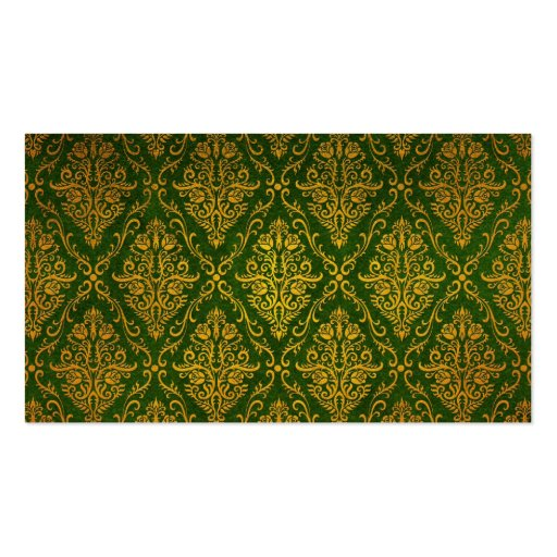 Old Victorian Roses Pattern, green Business Card