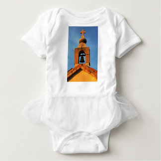 Old village church on the island Pag in Croatia Baby Bodysuit