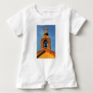 Old village church on the island Pag in Croatia Baby Romper