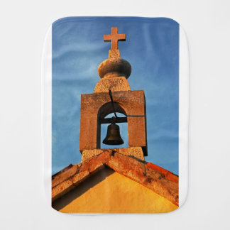 Old village church on the island Pag in Croatia Burp Cloth