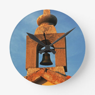 Old village church on the island Pag in Croatia Round Clock
