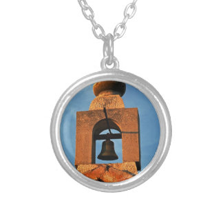 Old village church on the island Pag in Croatia Silver Plated Necklace