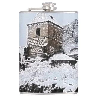old village in France Hip Flask