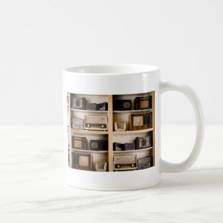 Old Vintage 1950's Radios on Shelves Coffee Mug