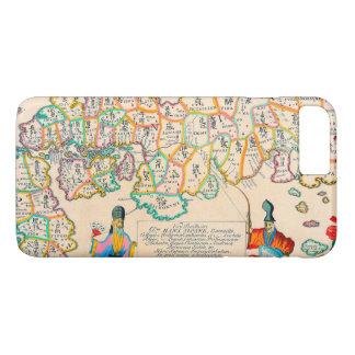 Old Vintage Antique Map of Japan iPhone 7 Plus Case
