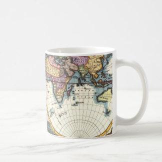 Old Vintage Antique world map illustration drawing Coffee Mug