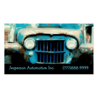Old  Vintage Auto Front Grille and Headlights Business Card