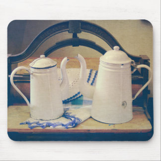 Old Vintage Coffee Pots II Mouse Pad