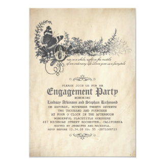 Old Vintage Fairytale  Engagement Party Invitation