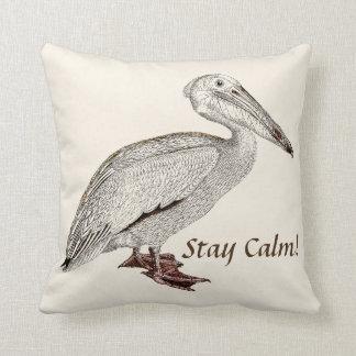 Old Vintage  Falcon sitting Throw Pillow
