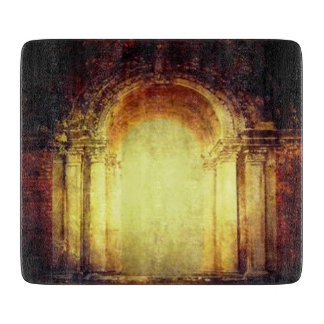 Old vintage fort main entrance gate texture design cutting board