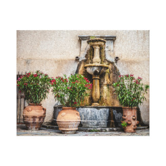 Old, vintage fountain canvas print