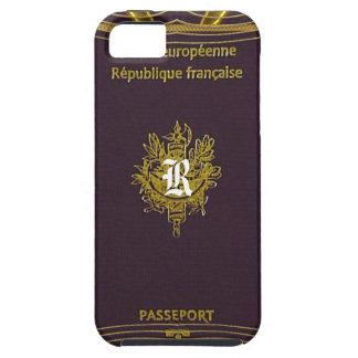 Old Vintage French Passport Monogram iPhone 5 Case