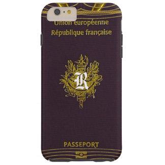 Old Vintage French Passport Monogram Plus Tough iPhone 6 Plus Case