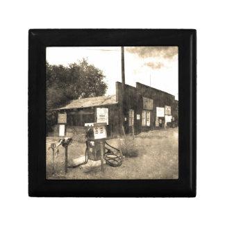 Old Vintage Gas Station Gift Box